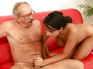 sweet young gangbanging with desperate grandpa