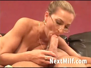 lady with giant tits giving lovely blowjob