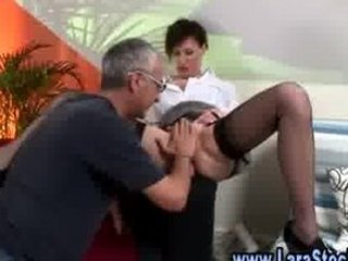 grownup chick into pantyhose teases with herself