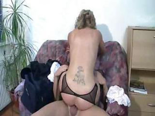 awesome german older  pierced on the bed