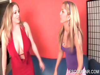 homosexual woman young tasting mommys breast