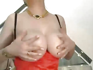 shaggy elderly with giant breast inside nylons