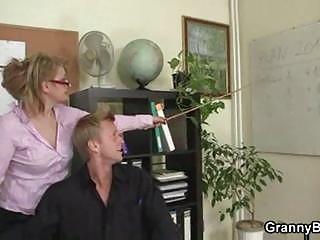 older  bureau boss forces him bang her uneasy