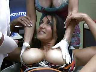 two fat chested latino ladies acquires drilled