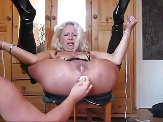 granny lady really uneasy  bondage