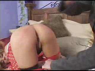 woman acquires rt ang spanks a faking brat