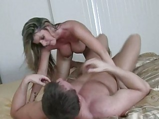 sweet naughty woman with huge chest banging