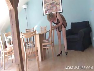 bleached older  showing sexy body