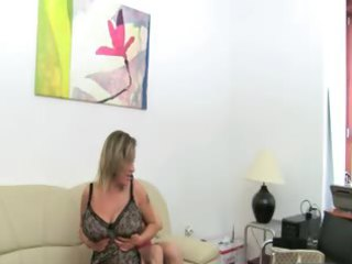 mature girl gangbanging on leather furniture