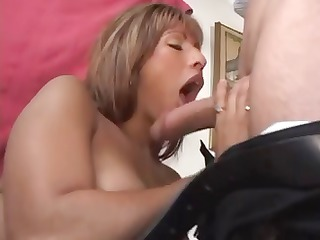 super latina lady sucks a lollipop penis and