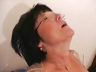 french granny milf  cumshots on glasses