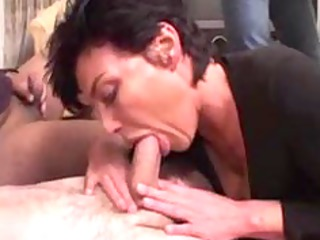 vanille french cougar gangbanged