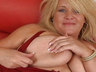 large albino momma with very big bosom pleases on