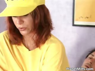 redhaired woman drives libido in her lingerie
