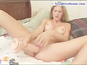desirae and a giant plastic cock part 2