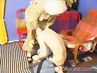 elderly milf spanks him and then fucsk him cock