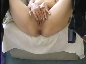 point of view of girl employing a weird vibrator