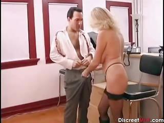hot cougar associate seducing younger boss