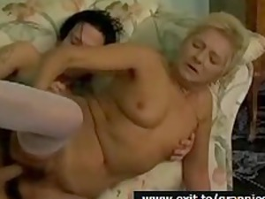 granny halena and her white cream squirting