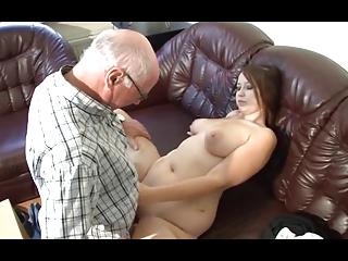 german grandpa makes fresh chick desperate