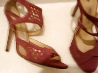 lady shoes boots sperm