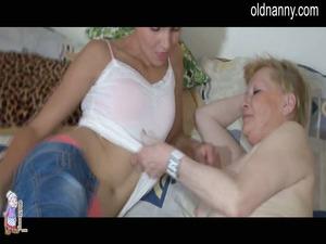 horny and sweet elderly old and fresh masturbation