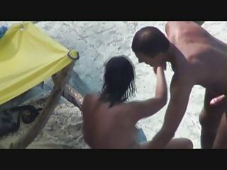 super woman likes three people on the seaside