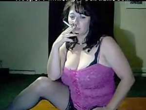 horny mommy tells you to cum when she smokes by