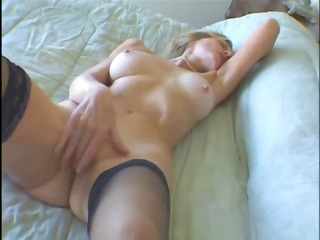 super blond elderly loves it while she obtains a