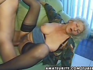 granny amateur mature wife licks and copulates