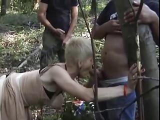 french busty elderly gangbanged outside